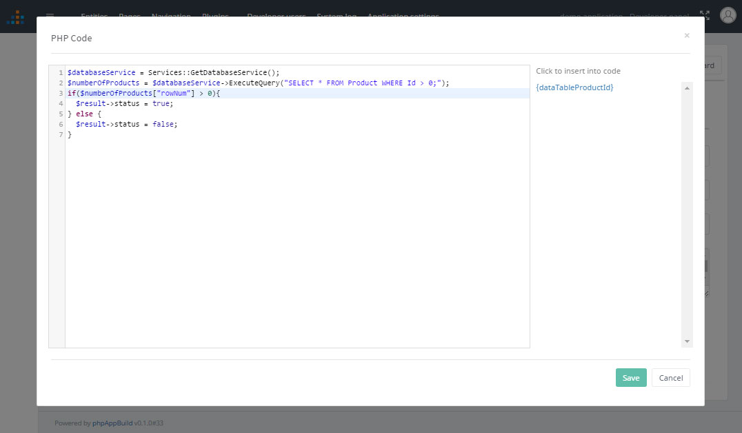 PHP Code visibility component